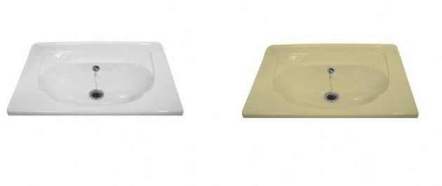 NIMBUS VANITY TOP K257 BASIN IVORY or White, Bathroom Basins for caravan and motorhomes - Grasshopper Leisure